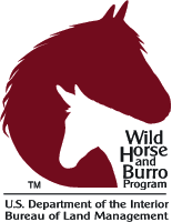Wild horse and burro logo